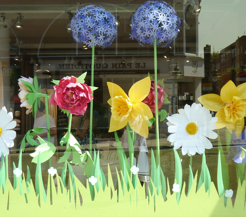 Chelsea Flower Show window display for West Elm